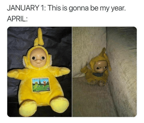 Funny, Tumblr, and April: JANUARY 1: This is gonna be my year.  APRIL: