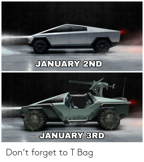 january: JANUARY 2ND  JANUARY 3RD Don't forget to T Bag