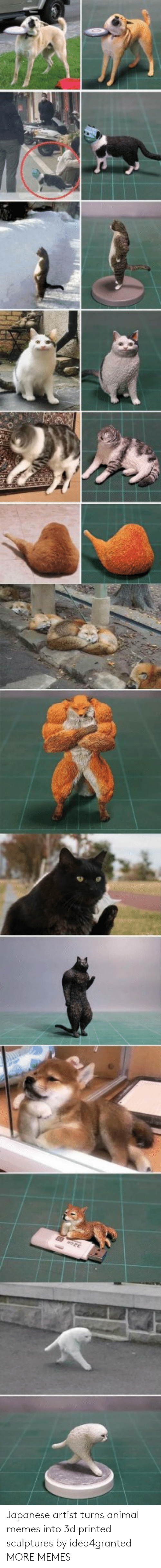Animal Memes: Japanese artist turns animal memes into 3d printed sculptures by idea4granted MORE MEMES