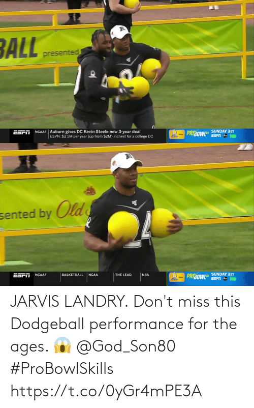Performance: JARVIS LANDRY.  Don't miss this Dodgeball performance for the ages. 😱 @God_Son80  #ProBowlSkills https://t.co/0yGr4mPE3A