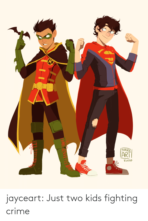 Crime: jayceart:  Just two kids fighting crime