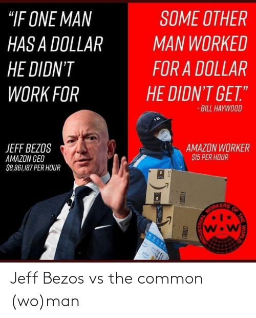 Common: Jeff Bezos vs the common (wo)man