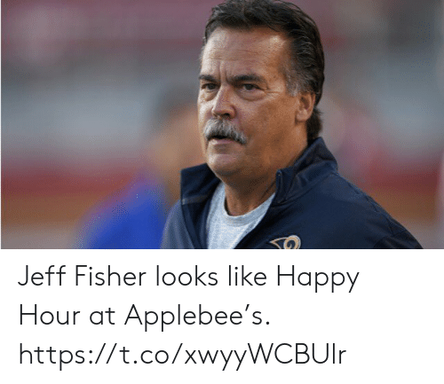 Sports, Happy, and Jeff Fisher: Jeff Fisher looks like Happy Hour at Applebee's. https://t.co/xwyyWCBUlr
