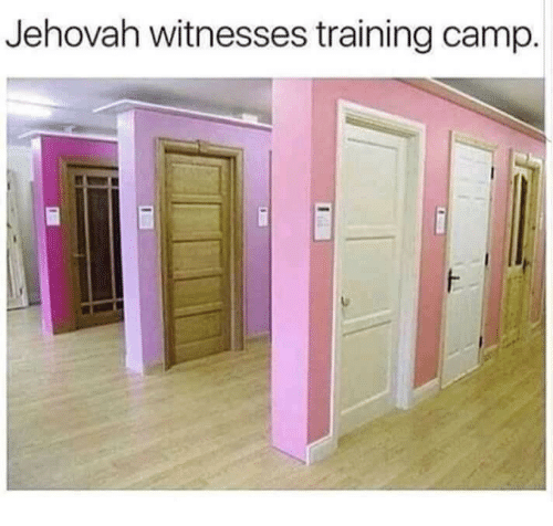 jehovah: Jehovah witnesses training camp.