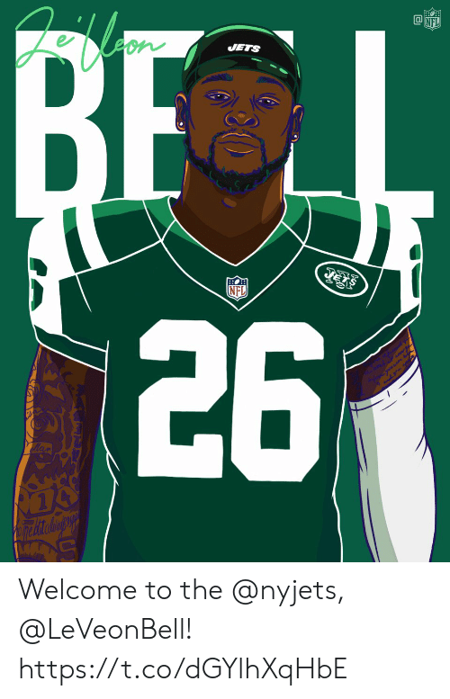 nyjets: JETS  NFL Welcome to the @nyjets, @LeVeonBell! https://t.co/dGYlhXqHbE