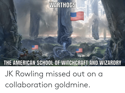 rowling: JK Rowling missed out on a collaboration goldmine.