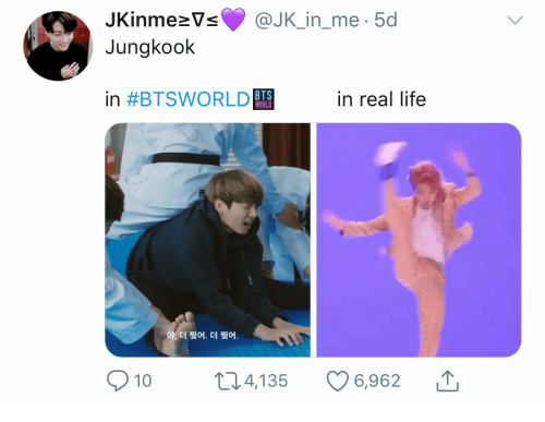Life, World, and Bts: JKinmeVs  @JK_in_me.5d  Jungkook  BTS  WORLD  in #BTSWORLD  in real life  야, 더 찢어. 더 찢어.  6,962  224,135  10