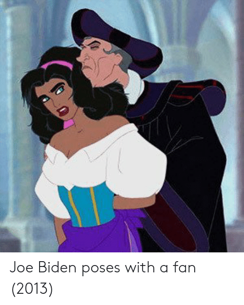 Joe Biden: Joe Biden poses with a fan (2013)