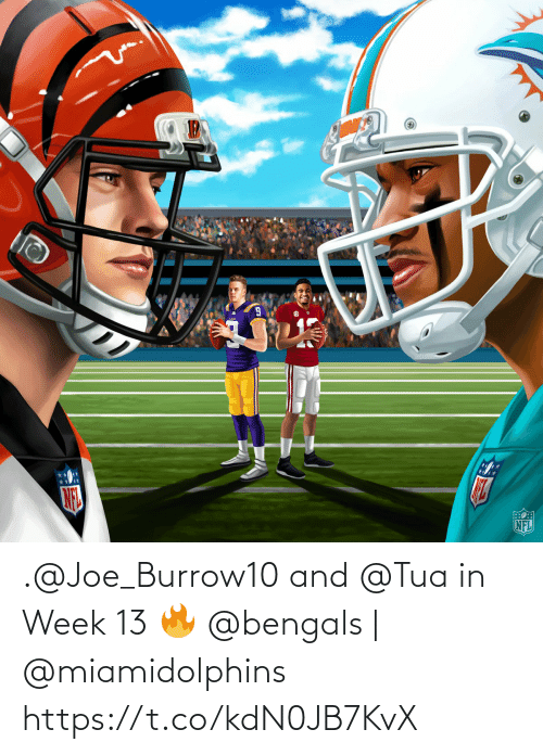 joe: .@Joe_Burrow10 and @Tua in Week 13 🔥  @bengals | @miamidolphins https://t.co/kdN0JB7KvX