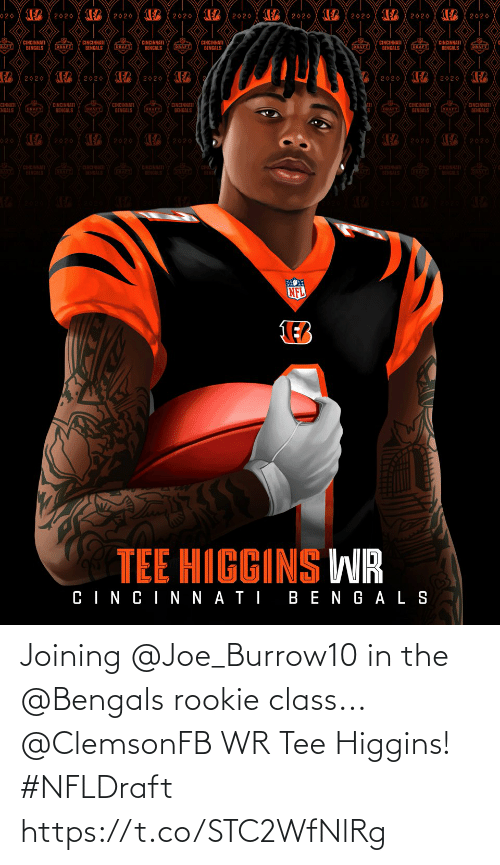 joe: Joining @Joe_Burrow10 in the @Bengals rookie class...  @ClemsonFB WR Tee Higgins! #NFLDraft https://t.co/STC2WfNlRg