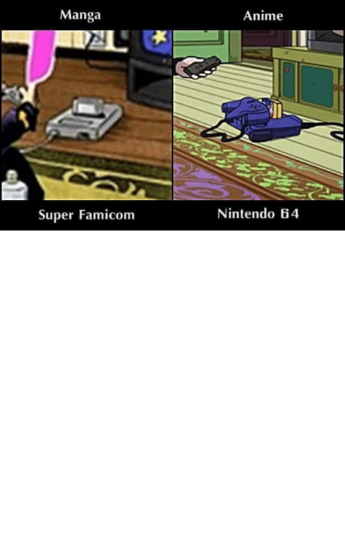 Nintendo: [JoJo's Bizarre Adventure: Diamond is Unbreakable] JoJo DiU takes place in 1999 but was written in 1992 and wasn't adapted into an Anime until 2016. To better reflect the time period, Josuke's game console was changed from a SNES to a Nintendo 64