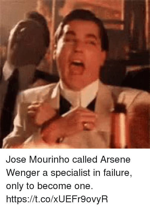 Soccer, Failure, and José Mourinho: Jose Mourinho called Arsene Wenger a specialist in failure, only to become one. https://t.co/xUEFr9ovyR