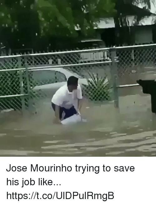 Soccer, José Mourinho, and Job: Jose Mourinho trying to save his job like... https://t.co/UlDPulRmgB