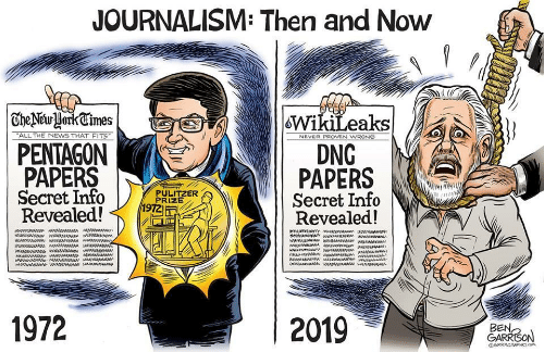 proven: JOURNALISM: Then and Now    TheNewHorkCimes  WikiLeaks  DNG  PAPERS  Secret Info  Revealed!  ALL THE NEWS THAT FITS  NEVER PROVEN WRONG  PENTAGON  PAPERS  Secret Info  Revealed!  PULITZER  PRIZE  1972  aw ww  1972  2019  BEN,  GARRISON  GRRRGRAPHICS