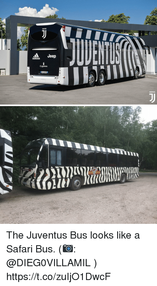 Adidas, Memes, and Jeep: JUDENTUS  Jeep  adidas  Cygames  ES 131ME  JUUENTUS The Juventus Bus looks like a Safari Bus. (📷: @DIEG0VILLAMIL ) https://t.co/zuIjO1DwcF
