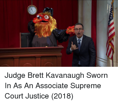 Sworn: Judge Brett Kavanaugh Sworn In As An Associate Supreme Court Justice (2018)