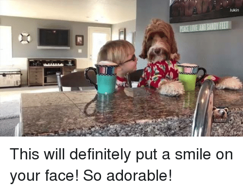 Memes, 🤖, and Your Face: Jukin This will definitely put a smile on your face! So adorable!