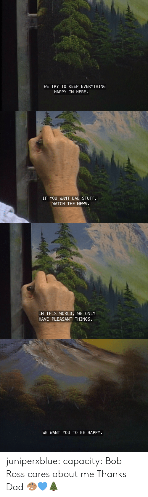 ross: juniperxblue: capacity:  Bob Ross cares about me   Thanks Dad 🎨💙🌲