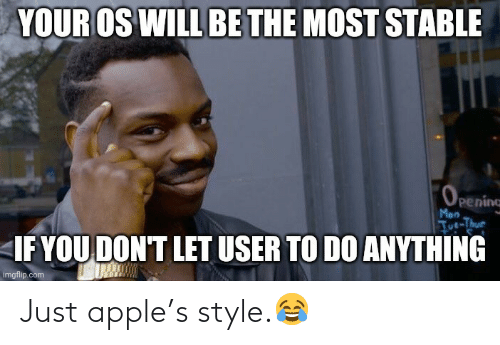 Apple: Just apple's style.😂