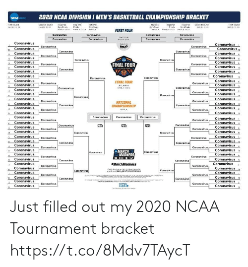 Filled: Just filled out my 2020 NCAA Tournament bracket https://t.co/8Mdv7TAycT