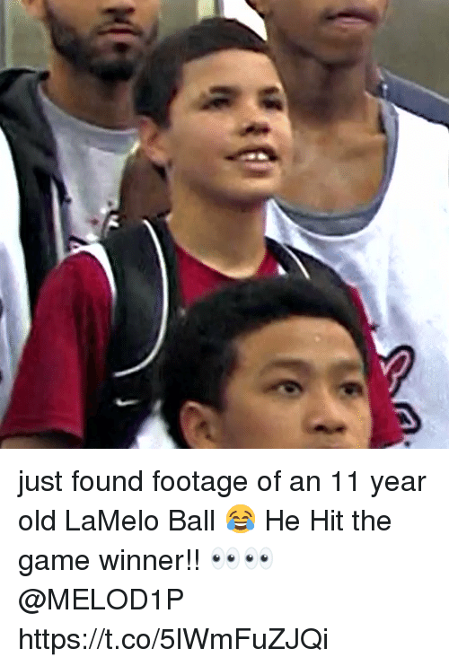 Game Winner: just found footage of an 11 year old LaMelo Ball 😂 He Hit the game winner!! 👀👀 @MELOD1P https://t.co/5lWmFuZJQi