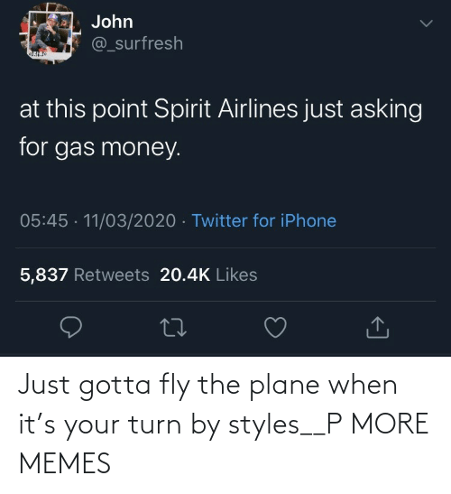 fly: Just gotta fly the plane when it's your turn by styles__P MORE MEMES