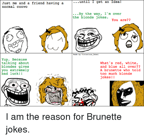 Brunette and blonde jokes asian
