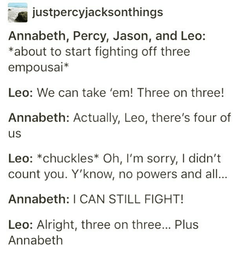 Just Percyjacksonthings Annabeth Percy Jason and Leo *About to Start