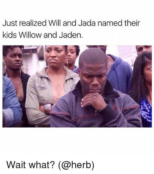 willow: Just realized Will and Jada named their  kids Willow and Jaden. Wait what? (@herb)