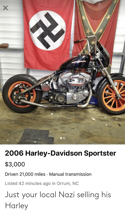 Harley: Just your local Nazi selling his Harley