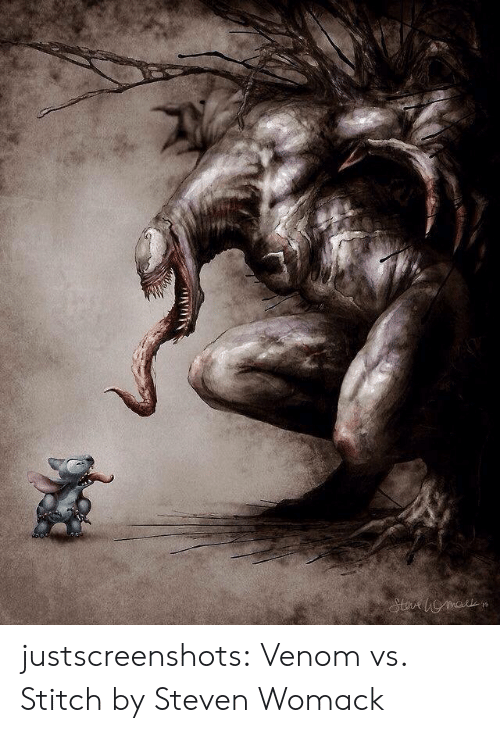 Tumblr, Blog, and Venom: justscreenshots:   Venom vs. Stitch   by  Steven Womack