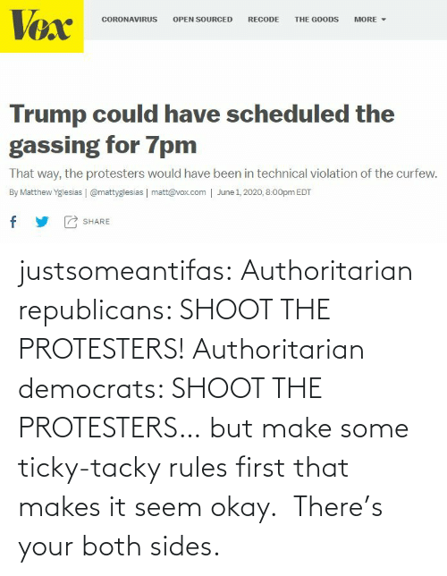 Okay: justsomeantifas: Authoritarian republicans: SHOOT THE PROTESTERS!