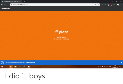 K Play Kahoot!- Enter Game PIN Hex+ a Httpskahootitgameover Came