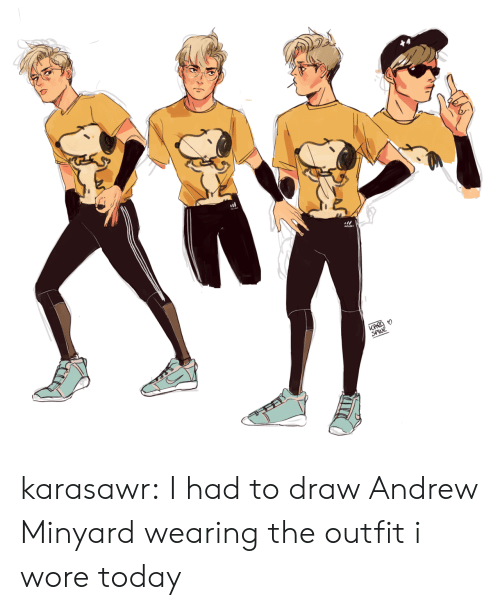 Target, Tumblr, and Blog: KARD  SPWR karasawr:  I had to draw Andrew Minyard wearing the outfit i wore today