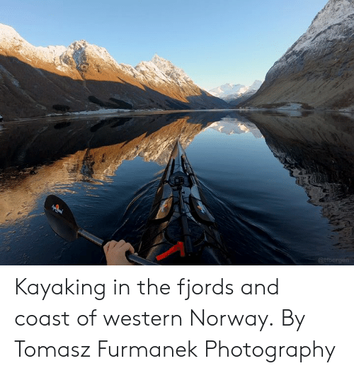 Kayaking: Kayaking in the fjords and coast of western Norway.  By Tomasz Furmanek Photography