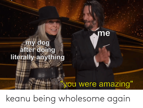 Wholesome, Keanu, and  Again: keanu being wholesome again