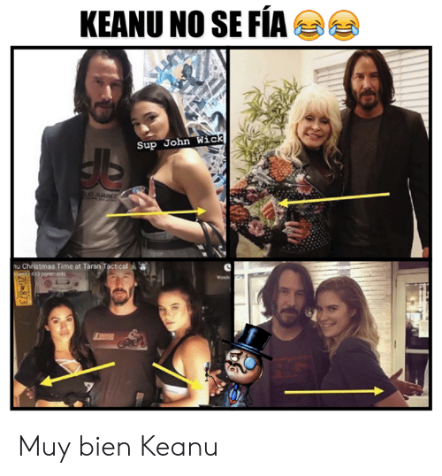 gms: KEANU NO SE FÍA  Sup John Wick  1o JUAREZ  nu Christmas Time at Taran Tactical  gms 433 comments  (e  ZG 873 Muy bien Keanu