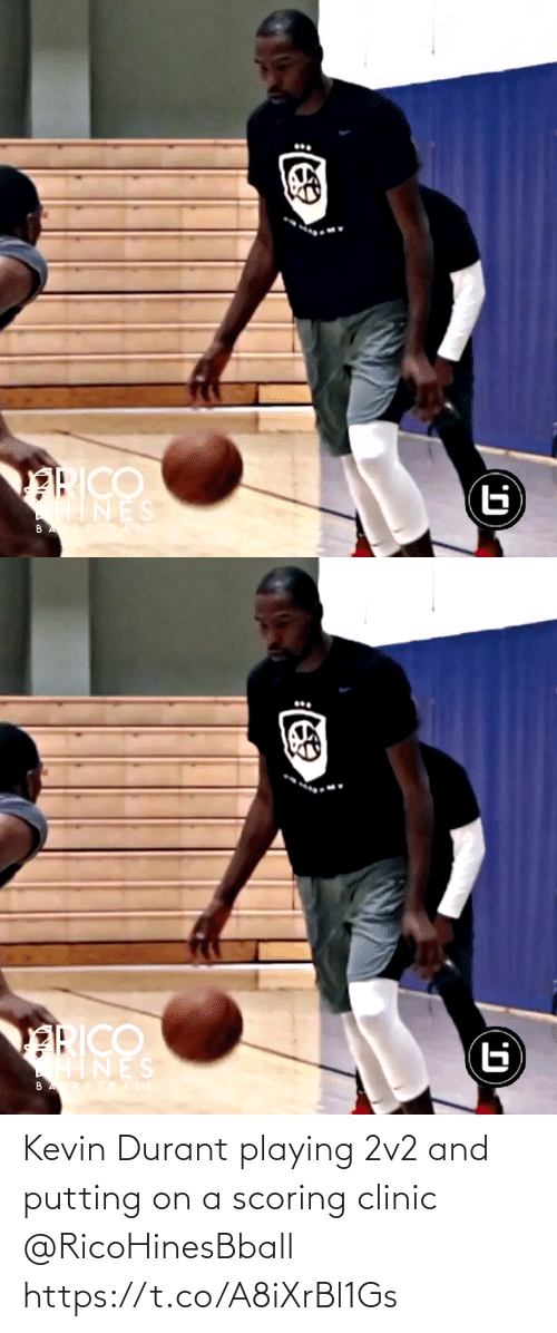 Scoring: Kevin Durant playing 2v2 and putting on a scoring clinic @RicoHinesBball https://t.co/A8iXrBl1Gs