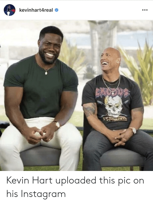 Kevin Hart: kevinhart4real Kevin Hart uploaded this pic on his Instagram