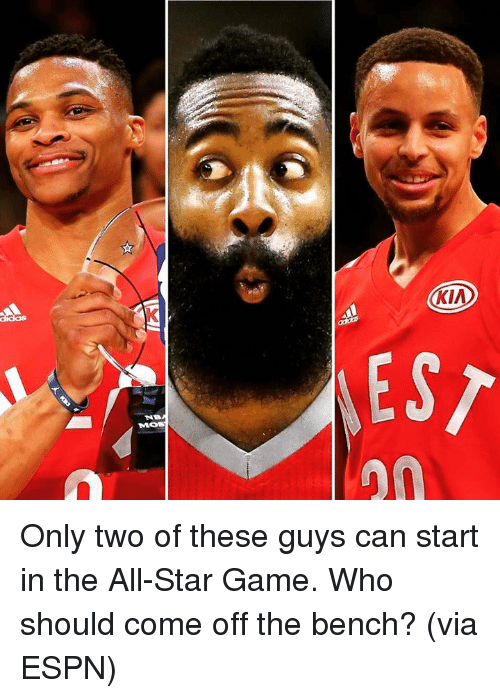 Come Off The Bench: KIA  EST Only two of these guys can start in the All-Star Game. Who should come off the bench? (via ESPN)