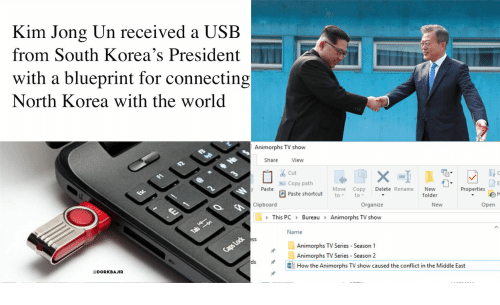 Animorphs, Kim Jong-Un, and North Korea: Kim Jong Un received a USB  from South Korea's President  with a blueprint for connecting  North Korea with the worlod  Animorphs TV show  Share  View  Cut  ぐ  Copy path  y Paste  MoveCopy Delete Rename New  to-  Properties ler  Paste shortcut  to;  folder  Clipboard  Organize  New  Open  This PC > Bureau Animorphs TV show  Name  Animorphs TV Series Season 1  Animorphs TV Series Season 2  Li  dǐHow the Animorphs TV show caused the conflict in the Middle East  @DORKBAJIR