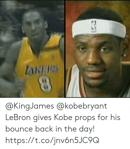 bounce: @KingJames @kobebryant LeBron gives Kobe props for his bounce back in the day!    https://t.co/jnv6n5JC9Q