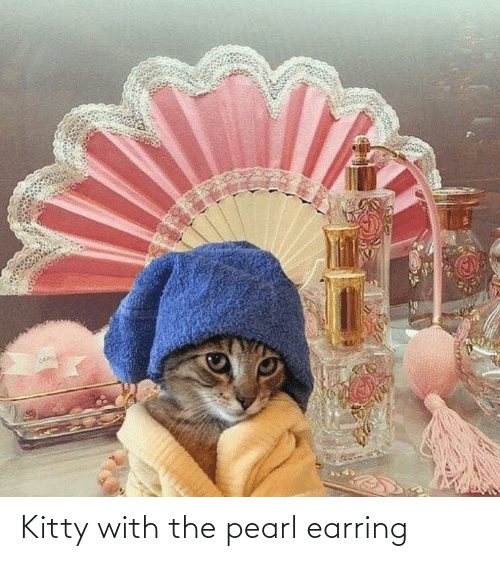 earring: Kitty with the pearl earring