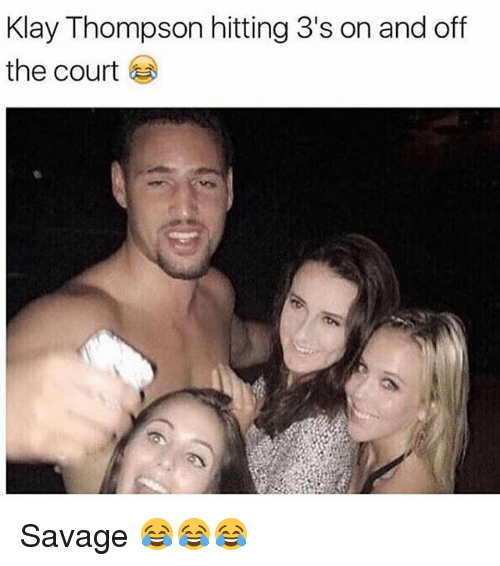 Funny, Klay Thompson, and Savage: Klay Thompson hitting 3's on and off  the court Savage 😂😂😂