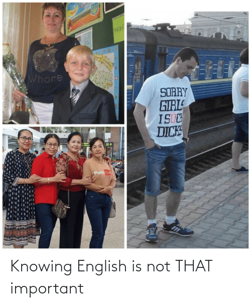 knowing: Knowing English is not THAT important