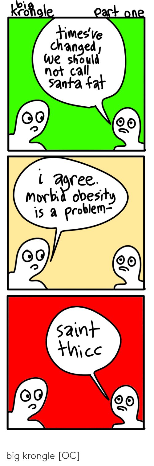 Fat: Kongle  part one  timesve  changed,  we should  not call  santa fat  agree.  Morbid obesity  is a problem-  saint  thice big krongle [OC]