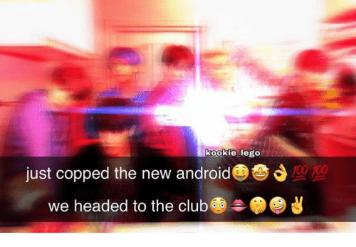 Kookie: kookie lego  700  just copped the new android  headed to the club