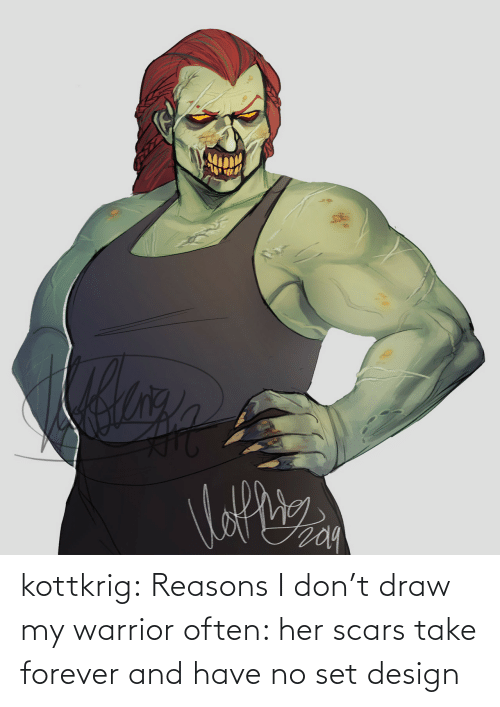 Forever: kottkrig:  Reasons I don't draw my warrior often: her scars take forever and have no set design