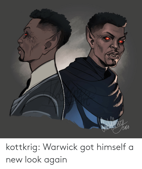 again: kottkrig:  Warwick got himself a new look again