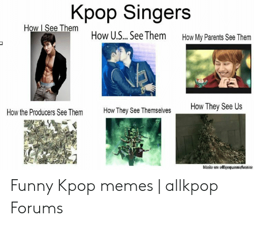 Funny, Meme, and Memes: Kpop Singers  How I See Them How U.S... See Them  How My Parents See Them  How They See Us  How They See Themselves  How the Producers See Them  Made an allkpapRaom/meme Funny Kpop memes | allkpop Forums
